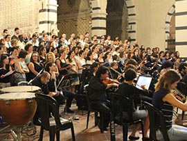 Il Coro e l'Orchestra in concerto