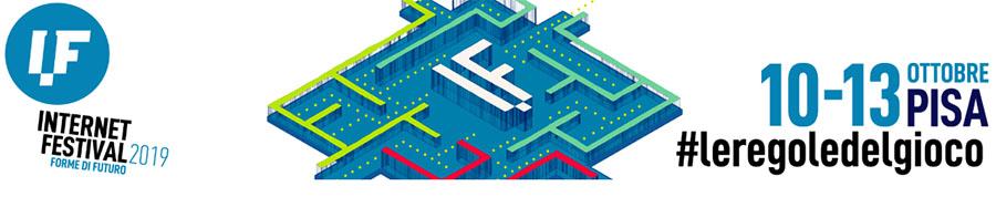 testatat del sito con logo Internet Festival 2019
